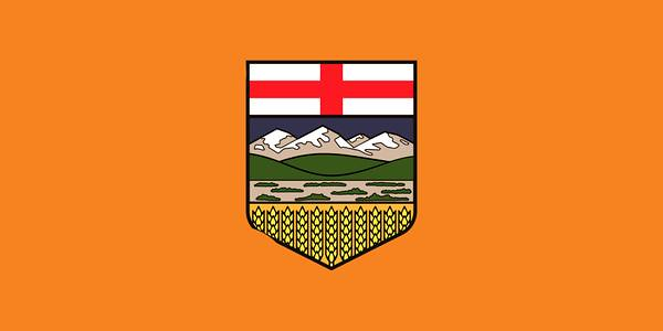 Alberta flag after NDP victory