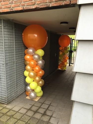 Ballonpilaar Breed Rond Parnassia Rotterdam