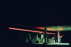 Green lights (Davide Bon) Tags: urban station night 35mm nikon gas gasstation fuel fuelstation 35mm18 vsco nikond7100 vscofilter