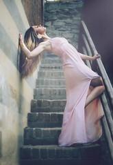 Andreea O. (vince_enzo) Tags: pink light castle canon hair torino eos 50mm stair heaven dress makeup medieval blonde scala stm jewels castello medievale architettura luce vento valentino colonna capelli 6d gioielli principessa posa dinamica