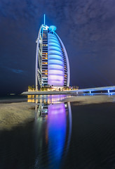 The Burj Al Arab At Night (Stuck in Customs) Tags: trees color colour building pool statue vertical horizontal architecture night skyscraper outside outdoors photography lights hotel march photo asia dubai cityscape outdoor sony uae middleeast rr daily resort nighttime burjalarab nightlife dailyphoto unitedarabemirates hdr trey 2015 ratcliff hdrphotography hdrphoto stuckincustoms a7r p2016 treyratcliff stuckincustomscom