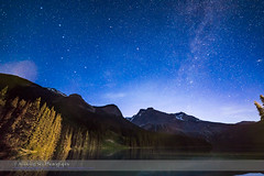 Northern Stars over Emerald Lake (Amazing Sky Photography) Tags: summer lake twilight solstice bigdipper perpetual lightpollution polaris northernsky emeraldlake yohonationalpark cassiopeia circumpolar littledipper rokinon foregroundlighting