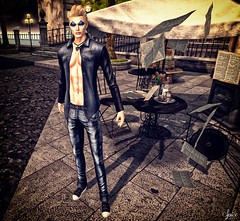 Spice wearing Rebellion Bandit Denim Jacket - Wrath Necklace and LRD Mens Jeans Sean @ Swank June (Two Too Fashion) Tags: sexy fashion style sensual event secondlife rebellion casual chic swank malemodel stylish lrd casualchic fashionpants fashionjacket malejeans secondlifemodel malepants maleoutfit chicoutfit malejacket banditdenimjacket mensjeanssean