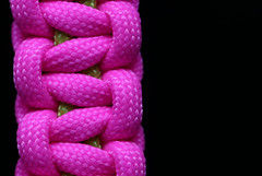 Paracord bracelet (AvesAg) Tags: pink green armband canon cobra rosa bracelet grn anythinggoes neongreen neonpink paracord cobrastyle macromondays paracordbracelet