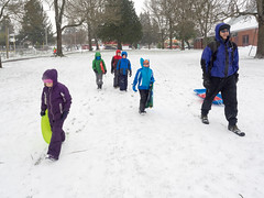 snow day (dolanh) Tags: winter snow lucas sledding zooey clintonpark southeastportland mttaborneighborhood