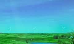The Land of Windmill (vinnothkrishnan) Tags: lake nature windmill outdoor farm environment windpower