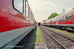 imm002_5 (coloredsteel) Tags: train canon graffiti ae1 steel kunst 400 program colored bombing ulm spotting rossmann trainwriting