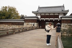 Hiroshima, Mom and Me (Quad Dimensional Pictures) Tags: city flowers tree castle japan museum march memorial gate peace bell mother ducks son hiroshima moat atomicbomb abombdome 2016 peacememorial epicenter hiroshimacastle johncarkeet marinacarkeet