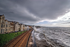 Dawlish - Devon, England. (MarkWoods2) Tags: sea railway devon seashore railwayline dawlish seawalls stormyseas