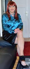 Birgit022457 (Birgit Bach) Tags: rock skirt blouse satin bluse