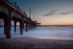 IMG_8360-1p (Vegeta_[Zhang Yaoyuan]) Tags: ocean longexposure sunset summer sand manhattanbeach