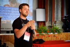 Cornelius Kibelka at Wikimania 2016 Esino Lario (Sebastiaan ter Burg) Tags: italy mountain community village open free event knowledge wikipedia conference wikimania esinolario