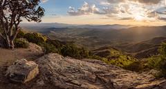 Prescott-7850-HDR-Pano (Michael-Wilson) Tags: sunset arizona panorama cliff mountains tree rock clouds pano scenic az valley overlook prescott michaelwilson skullvalley