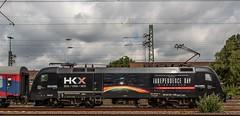 1211_2016_06_26_Gelsenkirchen_Hbf_MRCE_dispolok_ES_64_U2_-_036_DISPO_6182_536_182_536_HKX_Hamburg_Altona (ruhrpott.sprinter) Tags: railroad train germany logo deutschland day diesel outdoor zombie hamburg natur eisenbahn rail zug blumen db cargo nrw 111 passenger independence fret signal hbf gelsenkirchen ruhrgebiet freight mnster altona locomotives stellwerk lokomotive 182 146 wanneeickel sprinter ruhrpott 536 gter bte dispo 6182 mrce reisezug dispolok wiederkehr es64u2 ellok bahntouristikexpress hkx hamburgklnexpress