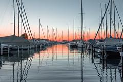 -- - (marco soraperra) Tags: sunset red summer sky orange colour water boats nikon warm harbour ships nikkor