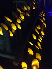 Mystical light (brisa estelar) Tags: bamboo light night festival traditional buddhism shingon koushoji lamps blue shades yellow abstraccion