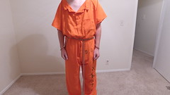 DJI_0230 (boblaly) Tags: orange prison prisoner jail inmate handcuffs cuffed shackled shackles chains chained restraints detention convict arrested belly chain jumpsuit uniform