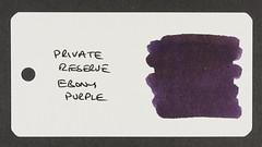 Private Reserve Ebony Purple - Word Card