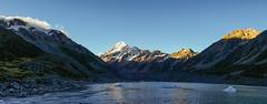 Aoraki & Glacier Lake (Falcdragon) Tags: new panorama mountain lake water walking landscape sony cook glacier mount zealand alpine april alpha a7 aoraki ilce7
