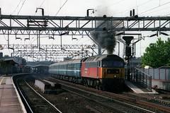 47714, Colchester, September 3rd 2002 (Southsea_Matt) Tags: station train railway norwich res colchester clag angliarailways diesellocomotive class47 londonliverpoolstreet railexpresssystems 47714