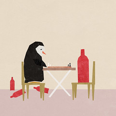Sad Penguin (olegborodin88) Tags: cinema art animals collage bar paper print poster penguin store bottle friend sad wine arctic story facebook
