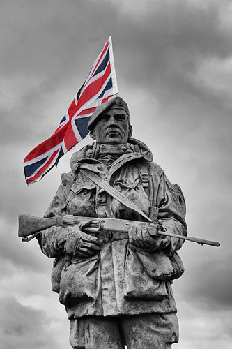 Royal Marines Yomper Statue