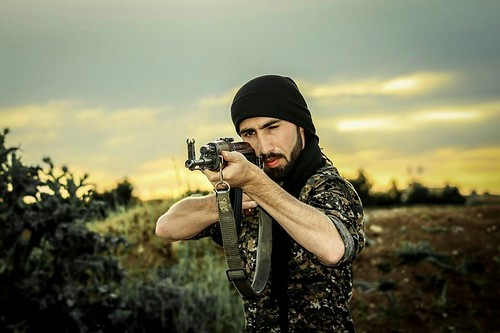 From flickr.com: Kurdish YPG Fighter {MID-134543}