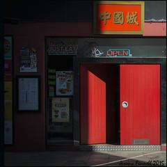 Open (Explored 30/04/2015) (zolaczakl) Tags: nelsonstreet red door photographybyjeremyfennell nikond7100 lightshadow shadows uk bristol england april 2015 exploredinflickr explored
