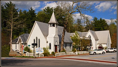 The Episcopal Church of the Incarnation (Jerry Jaynes) Tags: sky mountains church clouds nc highlands northcarolina episcopal appalachianmountains nantahalanationalforest maconcounty nikkor1685vr theepiscopalchurchoftheincarnation