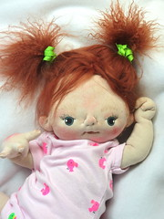 Jane (BeBe Babies and Friends) Tags: sculpture baby art girl doll soft dolls babies ooak redhead fabric bebe cloth