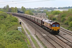 JAG (JohnGreyTurner) Tags: uk train br diesel transport shed engine rail railway 66 locomotive didcot oxfordshire dbs class66 ews