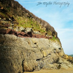 Colourful Cliffs at Llansteffan Beach (JimHaydenPhotography) Tags: cliff beach rock colorful colorfull rocky beachlife cliffs colourful beachday cliffface rockformation llansteffan colourfull llansteffanbeach jimhaydenphotography