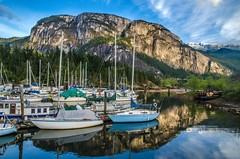 The Chief (Harry2010) Tags: boats harbour bluesky granite squamish seatosky chiefmountain
