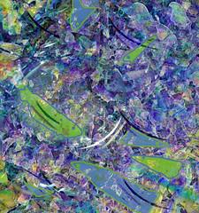 Feininger's Fish Pond (virtually_supine) Tags: abstract collage photomanipulation digitalart creative layers naiveart cubism lyonelfeininger pse9 photoshopelements9 tmichallengeinthestyleofbraquefeiningerleger pse9effectsplasticwraptilesoffsetpencilpaintbrush artworkcreatedapril2015
