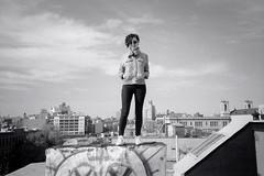 On Brooklyn (DoubleBen) Tags: city nyc bw ny newyork film brooklyn 35mm j blackwhite 100 ilford yashica