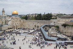 Dome of the Rock in the Distance. Jerusalem's Western Wall. (marylea) Tags: architecture israel jerusalem domeoftherock mosque oldcity westernwall templemount 2015 may11