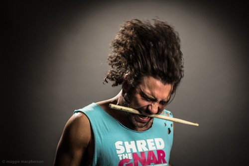So much fun doing studio portraits of this groovy dude #shredthenar #studio #portrait #movement #energy #drummer #musician #afro #grey #photography #fun #vancouver #male #man #character #2015# #funk