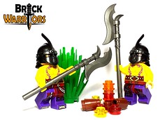 Poor, Unsuspecting Bad Guys (BrickWarriors - Ryan) Tags: castle army lego medieval fantasy armor custom weapons helmets minifigure polearm voulge brickwarriors