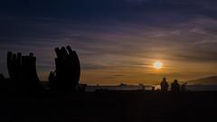Sunset Bikers (Sworldguy) Tags: ocean park sunset sky beach vancouver clouds skyscape landscape outdoors nikon colorful dynamic pacificnorthwest sunsetbeach englishbay dslr westend vancity d7000