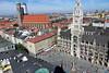Monachium widziane z góry z innej perspektywy. (Nowiny z Monachium) Tags: münchen altstadt frauenkirche marienplatz theatinerkirche münchenvonoben nowyratusz panoramamonachium