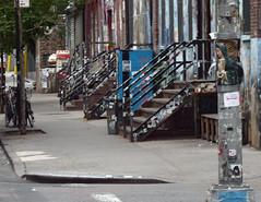 Shrine (paulsvs1) Tags: street nyc newyorkcity urban saint brooklyn grit religious graffiti shrine mary prayer praying streetphotography surreal gritty blessing lightpole guardian protector streetshot saintmary auspicious eastwilliamsburg bogartstreet