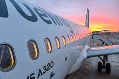 Morning light reflects on this A320... (LTCE) Tags: aviation
