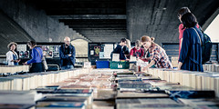 Bookworms (Sean Batten) Tags: street city england people urban london 50mm nikon df market unitedkingdom streetphotography stall books southbank gb shoppers waterloobridge