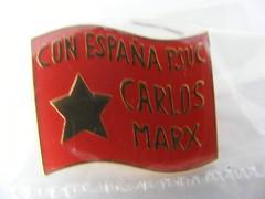 Spanish socialist Badge - Karl Marx (seanfderry-studenna) Tags: red party spain europe pin european political politics union carlos catalonia communist espana spanish espanol badge marx karl socialist catalunya trade catalan marxist lapel psuc