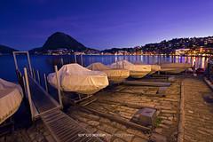 #032 Lungolago di Lugano all'ora blu (Enrico Boggia | Photography) Tags: barche lugano maggio citt lungolago 2016 luganese lagodilugano ceresio sansalvatore orablu montesansalvatore enricoboggia
