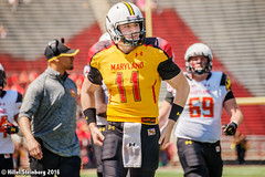 Maryland_White_on_Red_20160416_1051.jpg (hillels) Tags: park game college sports field sport photography one football spring team dj outdoor stadium maryland capitol practice terps byrd durkin collegepark testudo byrdstadium terp capitolonefield djdurkin