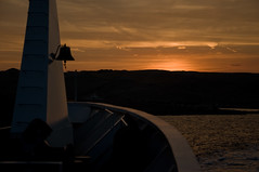 Leaving island Rab / Naputajui otok Rab (Vjekoslav1) Tags: sunset sea sky sun colors island ship colours harbour croatia more brod adriatic luka hrvatska jadran nebo rab boje sunce kvarner suton zalaz minjak