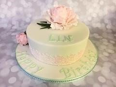 Birthday cake .... (abbietabbie) Tags: birthday cake fruit peony sugar marzipan fondant