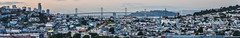 weekend rising (pbo31) Tags: sanfrancisco california city bridge sunset urban panorama motion color skyline evening spring nikon view rooftops weekend over may large panoramic baybridge bayarea vista bayview sas stitched 2016 lightstream bayviewpark boury pbo31 easternspan d810