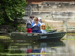 Wheaton, IL, Herrick Lake Forest Preserve, Fishing with Dad (Mary Warren (6.8+ Million Views)) Tags: family plants lake green nature water leaves children boat spring fishing flora father foliage wheatonil herricklakeforestpreserve